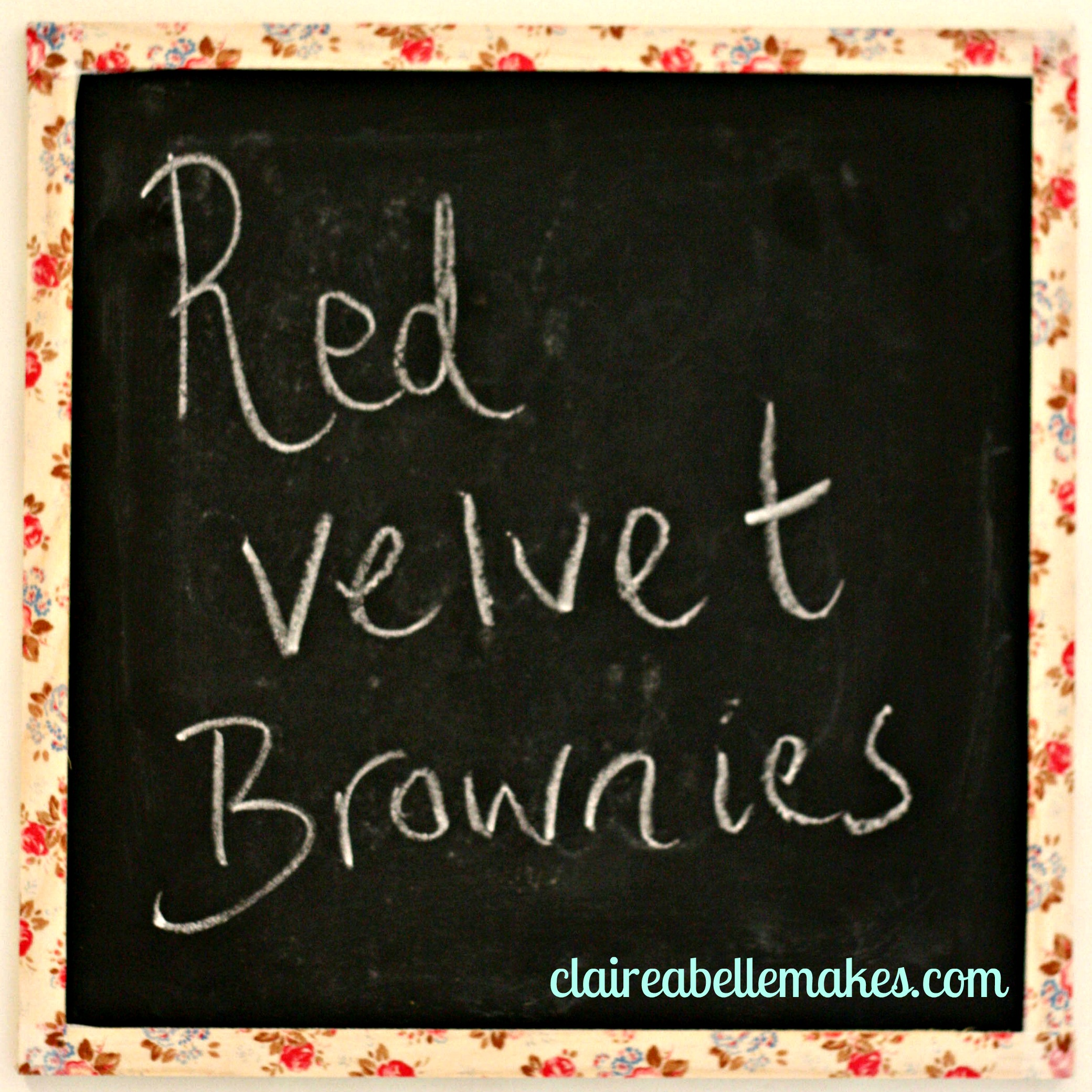 Red Velvet brownies