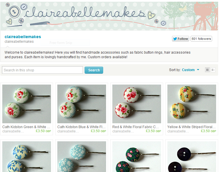 claireabellemakes on Etsy