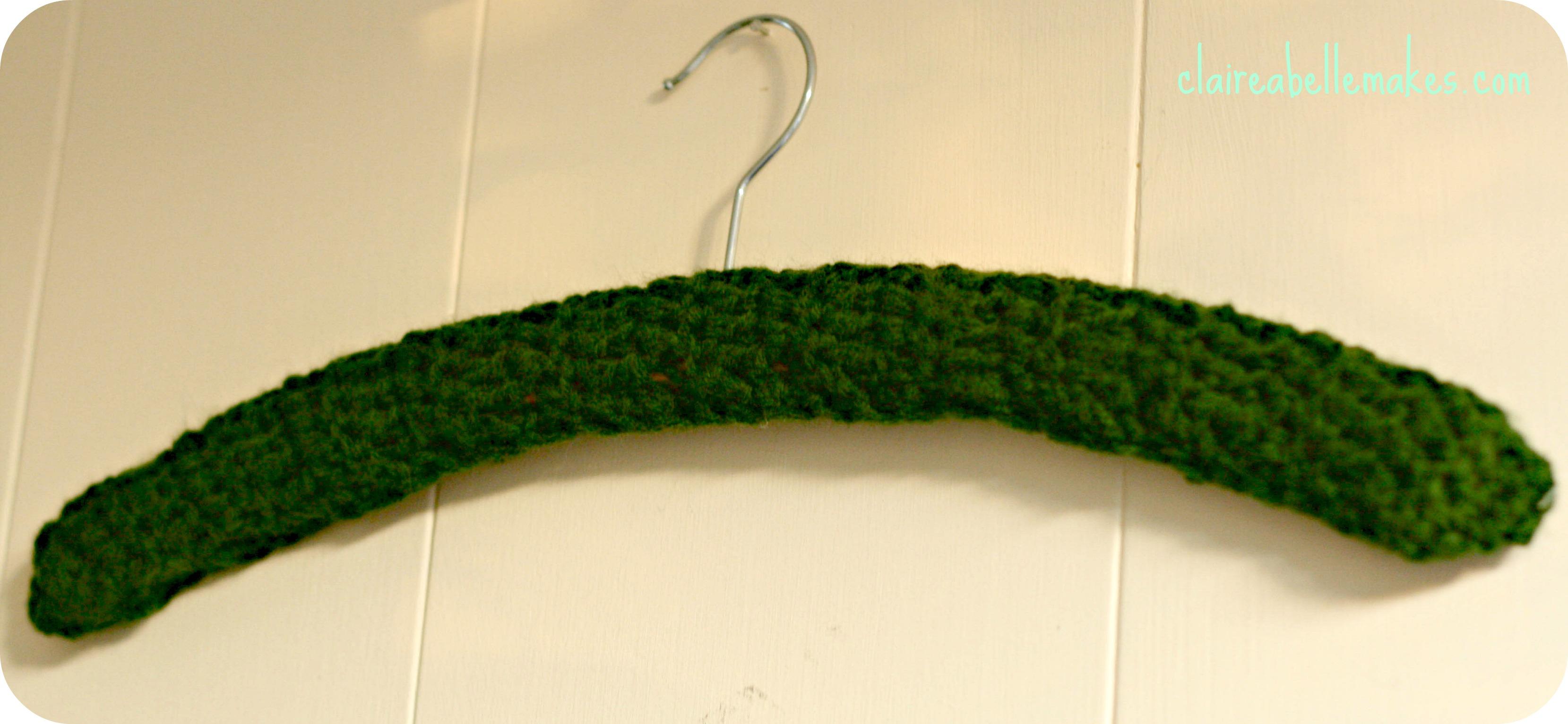 Crochet Coat Hanger by claireabellemakes