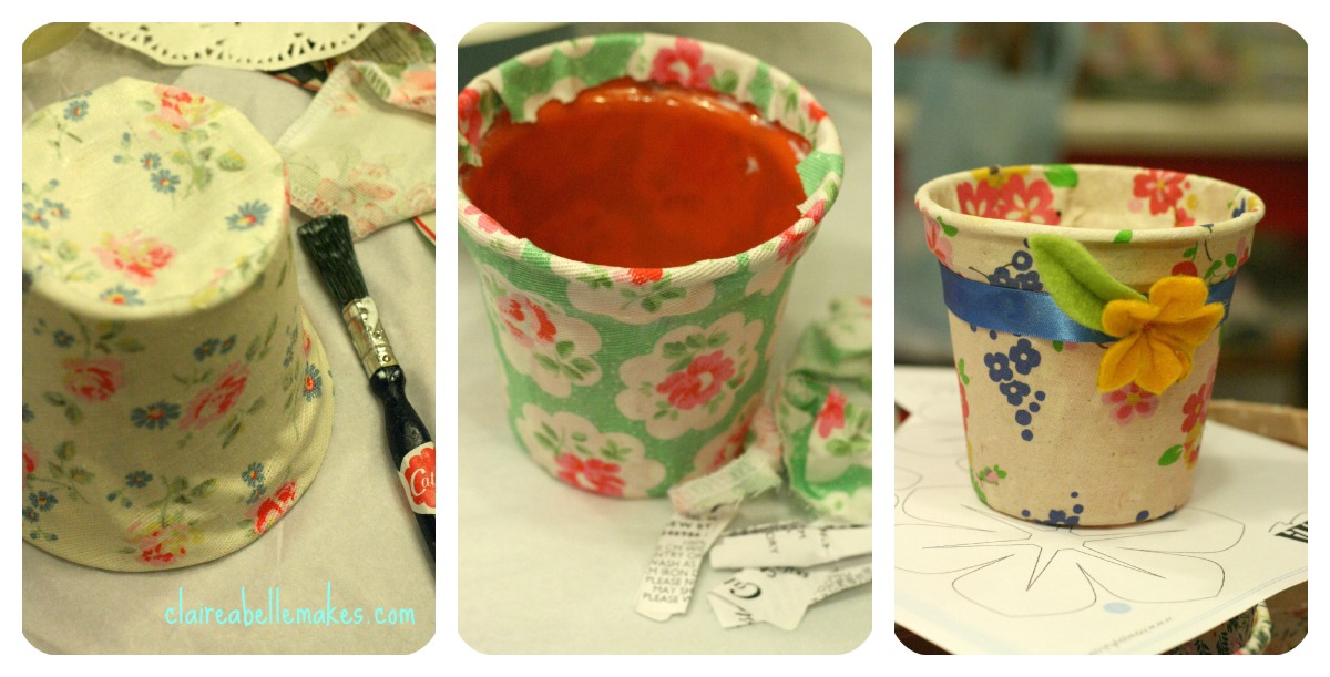 Cath Kidston Fabric Flower Pots on claireabellemakes