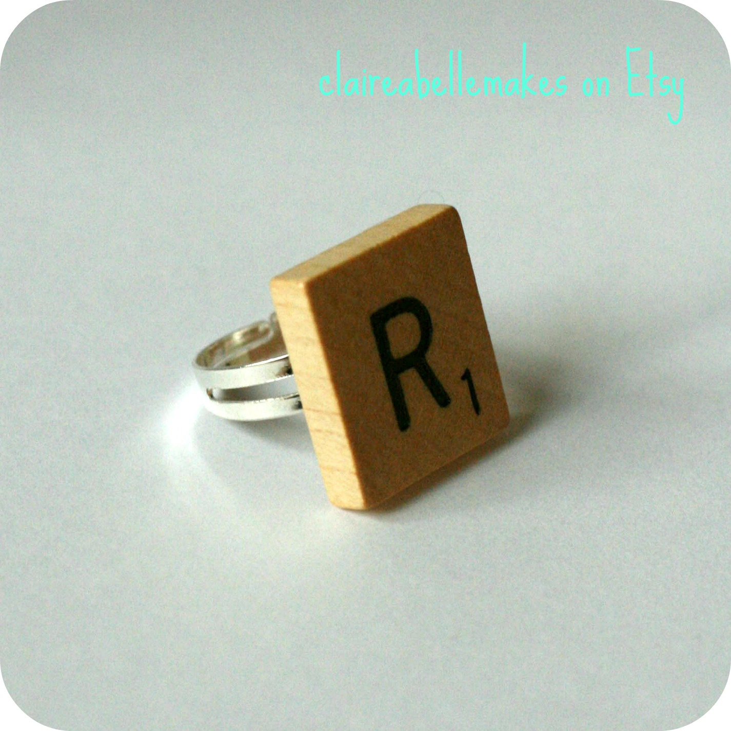 Scrabble Ring by claireabellemakes