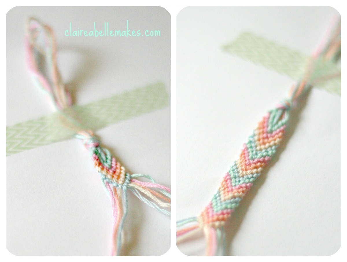DIY Chevron Pastel Friendship Bracelet by claireabellemakes