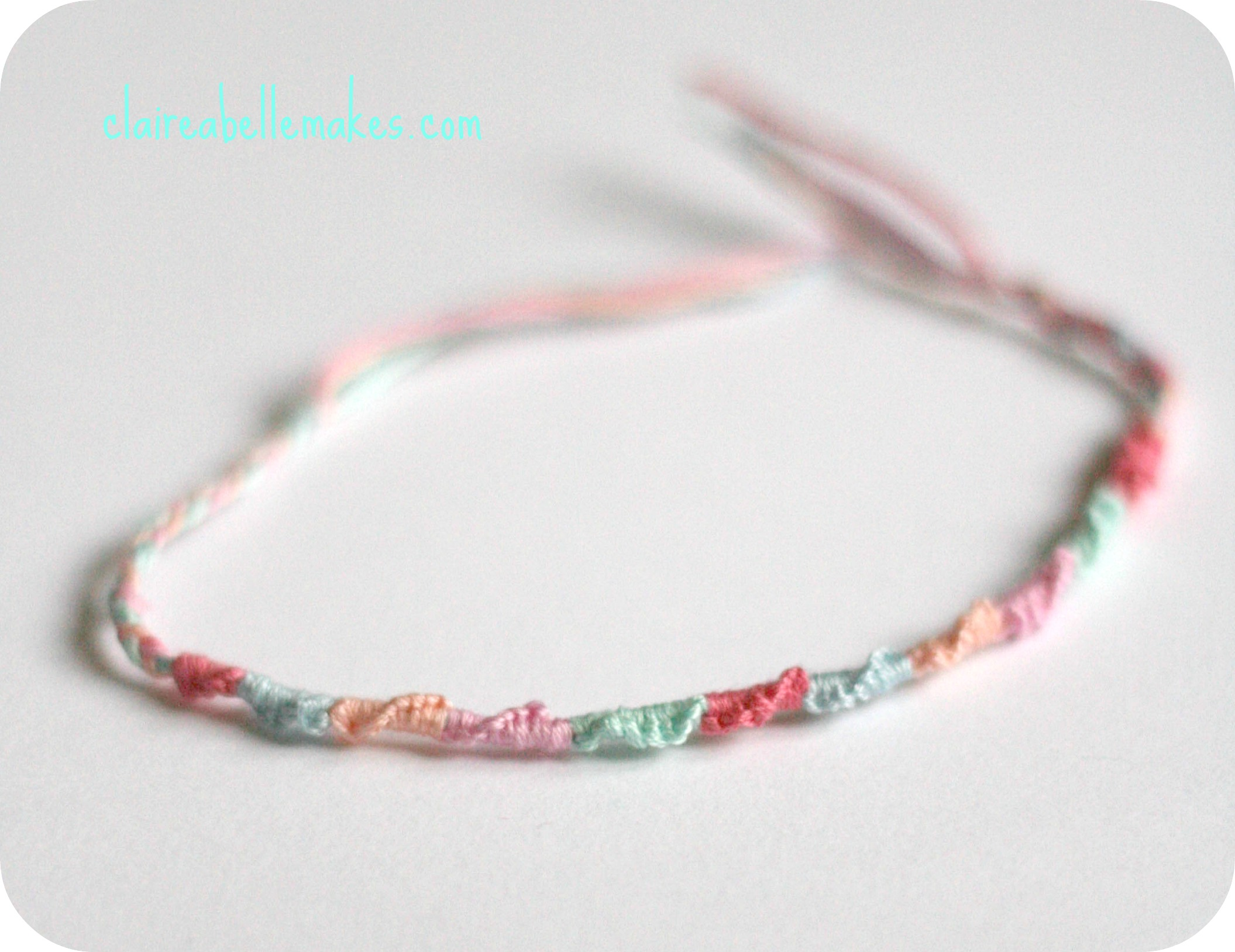 DIY Spiral Friendship Bracelet by claireabellemakes