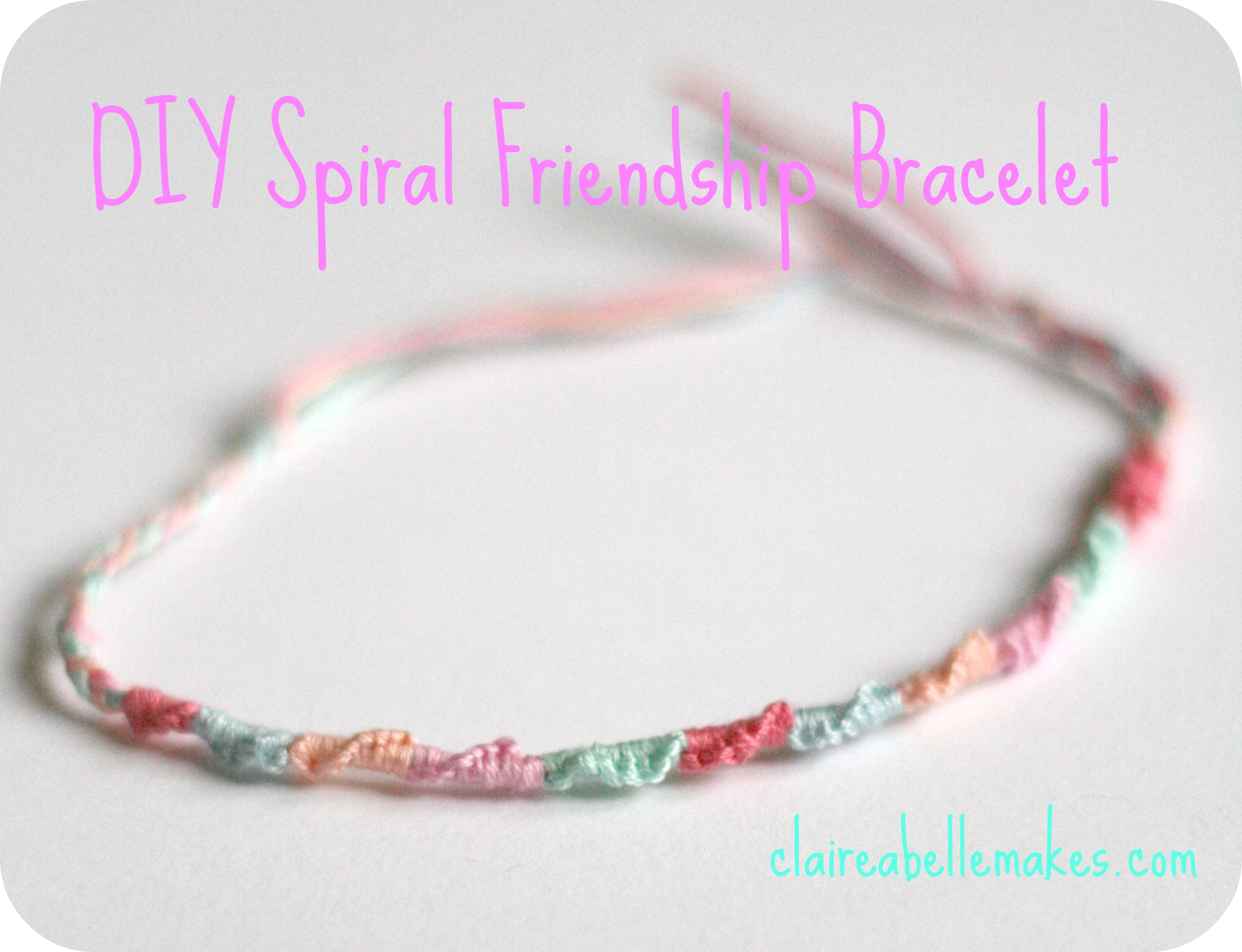 diy mondays something embroidery bracelet knotted bracelets thread friendship tag make