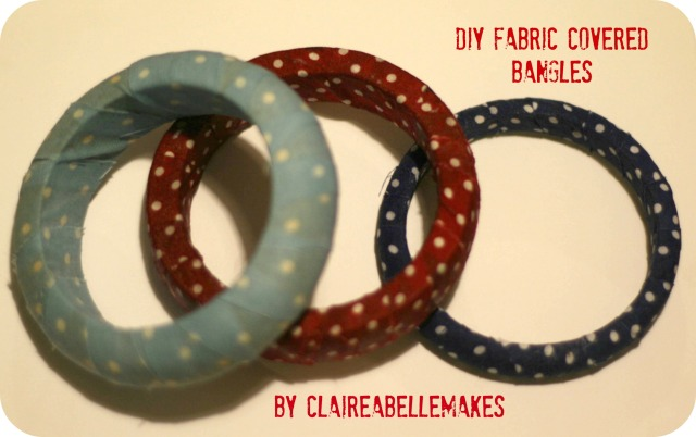 DIY Fabric Covered Bangles by claireabellemakes