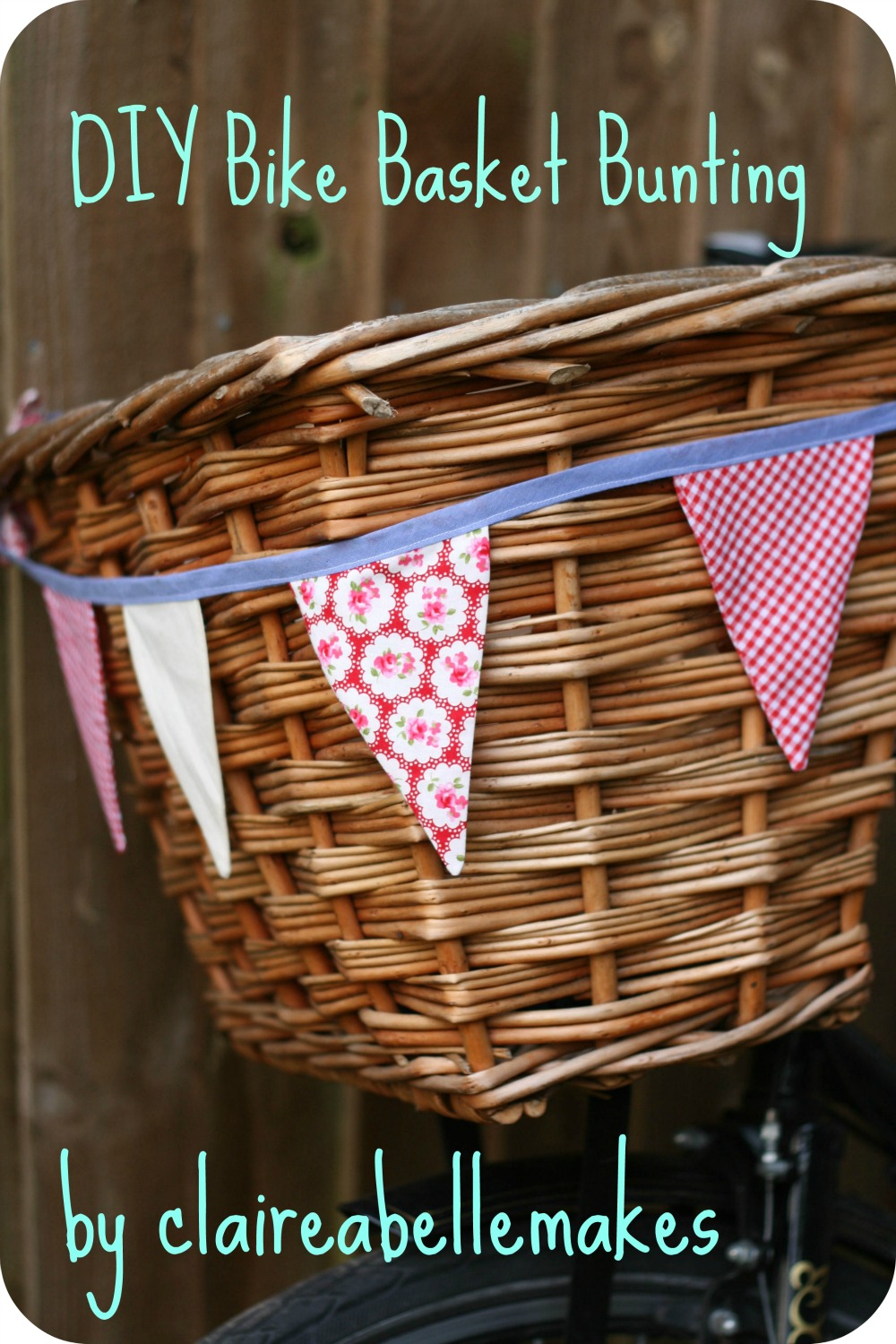 DIY Bike Basket Bunting by claireabellemakes