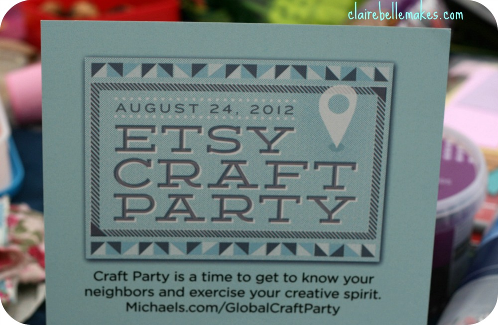 Etsy Craft Party on claireabellemakes