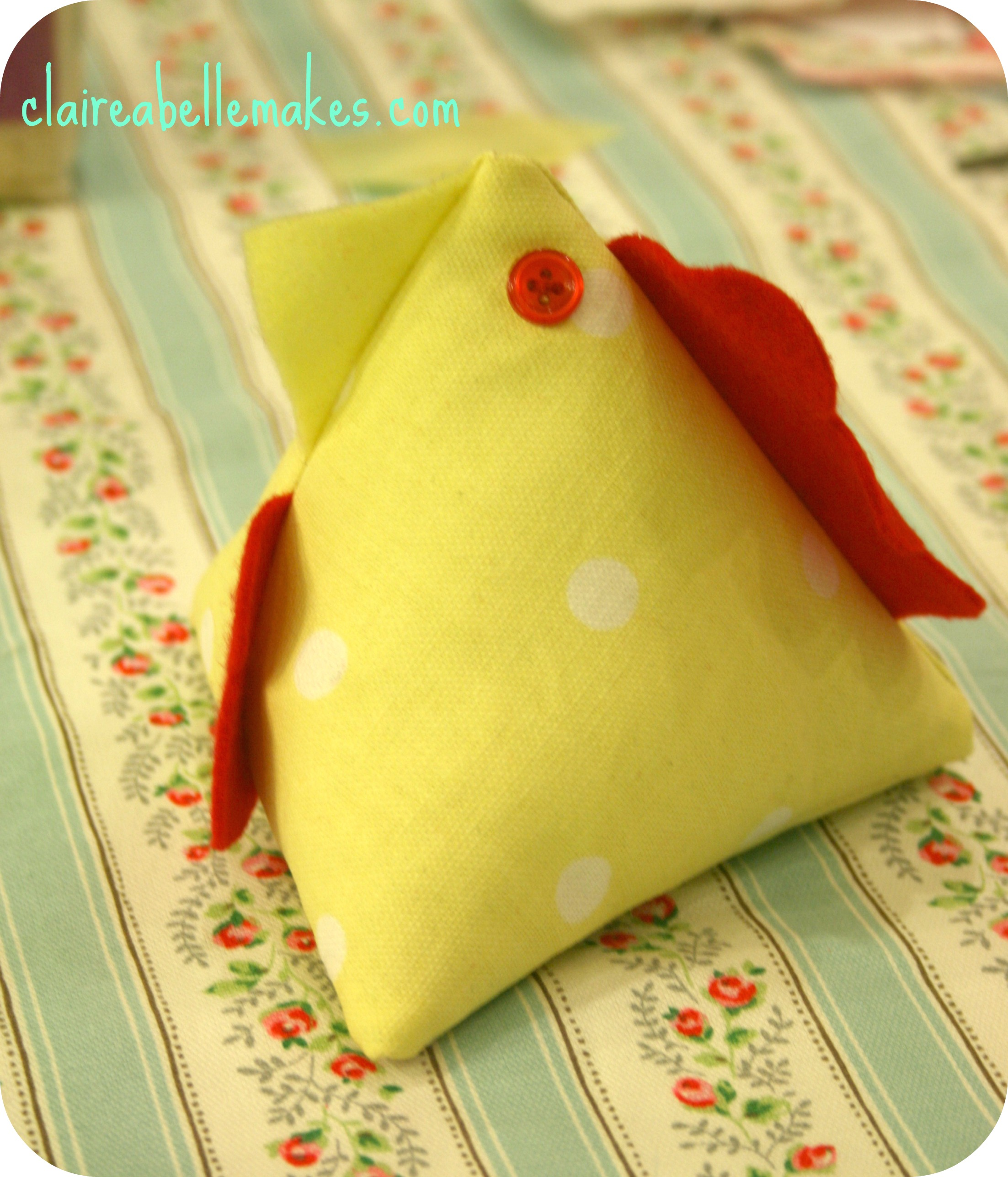 Cath Kidston Chicken Doorstop on claireabellemakes