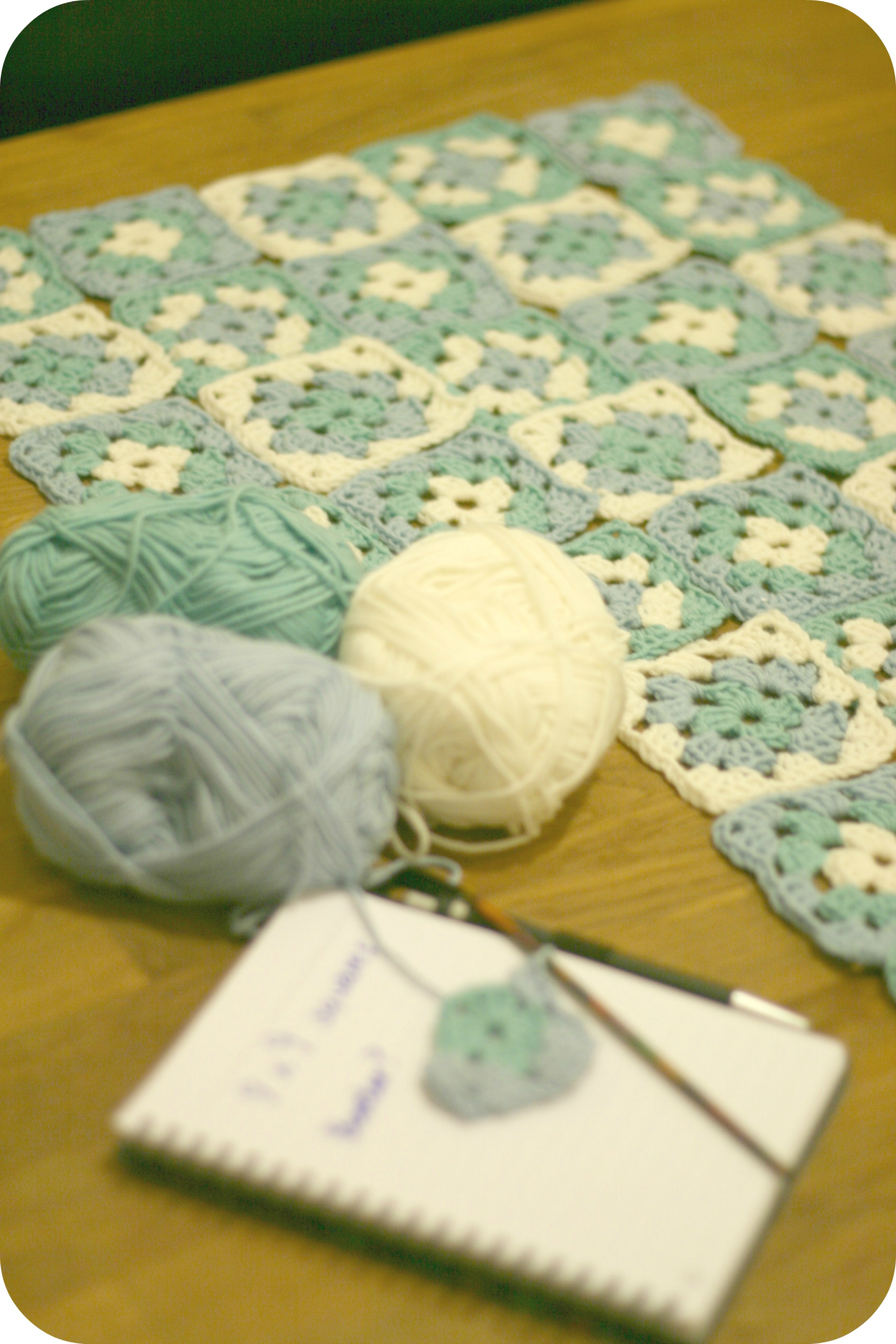 Granny Square Blanket planning by claireabellemakes