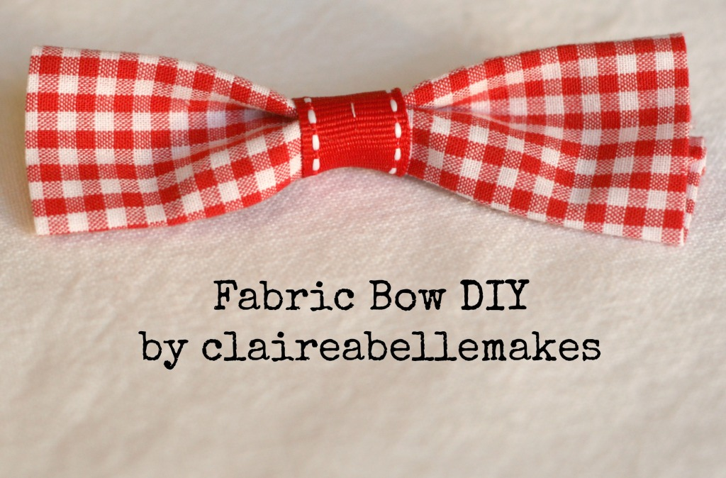 Easy Fabric Bow DIY by claireabellemakes