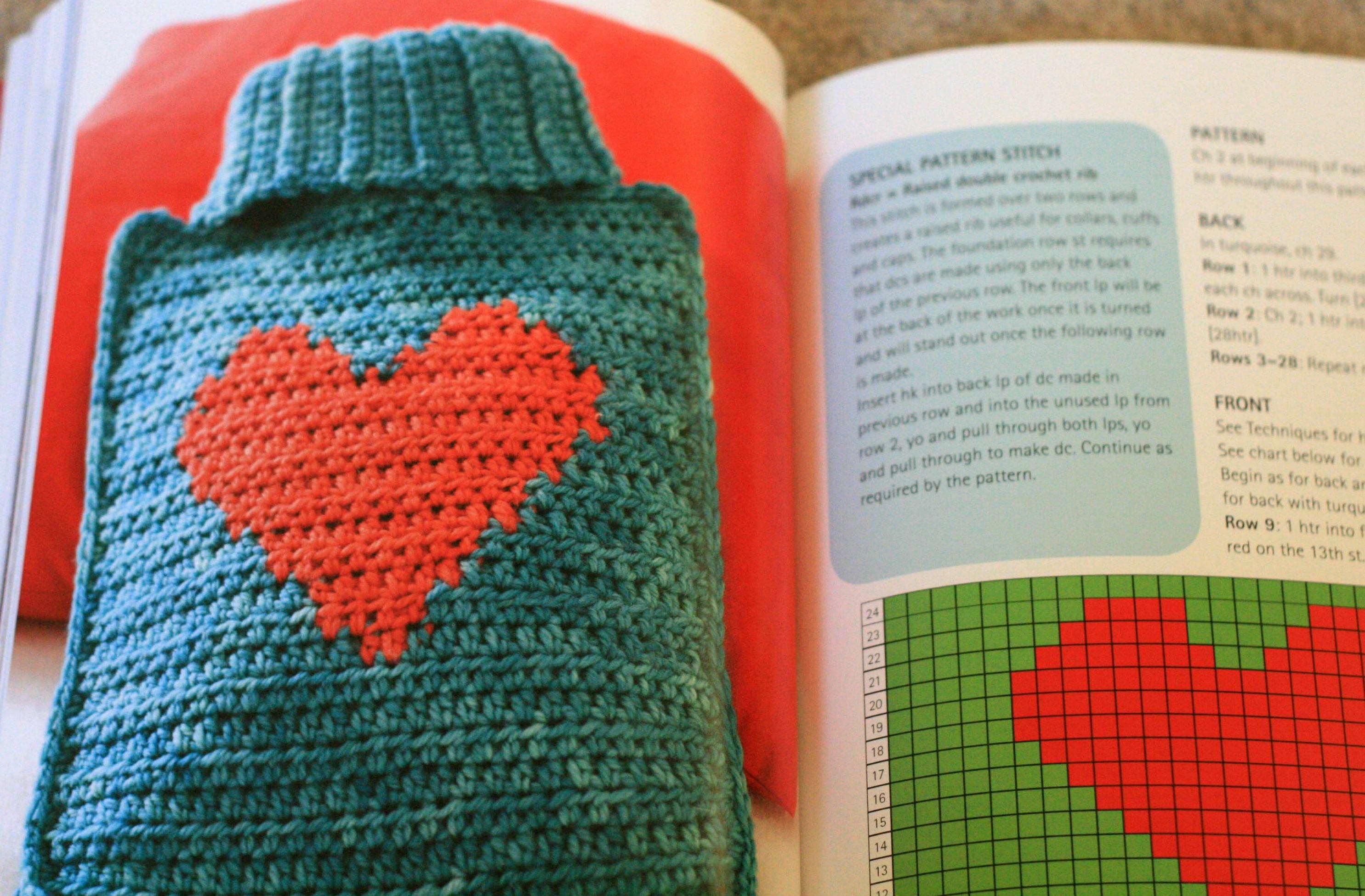 crochet hot water bottle cover on Pinterest Hot ...
