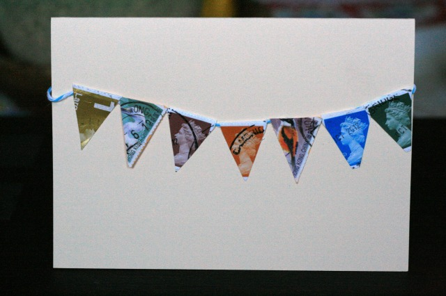 Stamp Bunting Card