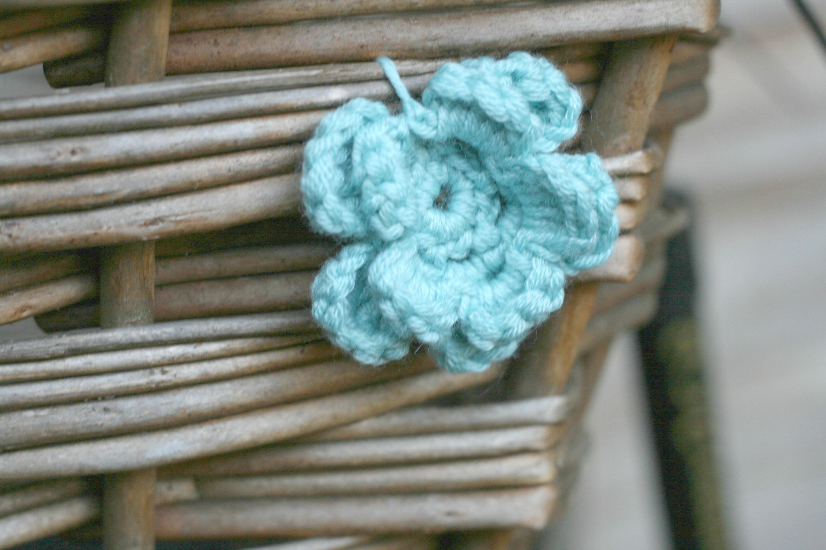 Crochet Flower Bicycle Basket